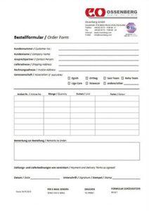 Bestellformular