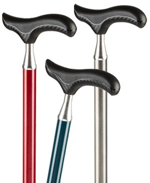 Light metal walking sticks with carbon - Dergy grip SOFT - 100 kg