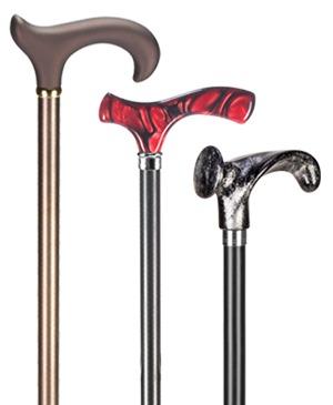 Light metal walking sticks