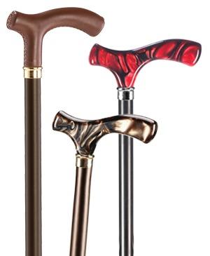 Exclusive light metal walking sticks with Fritz grip - 100 kg