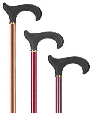 Light metal walking sticks with Derby grip Softtouch - 100 kg