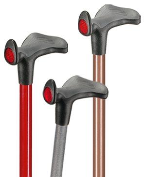 """Light metal walking sticks with anatomical grip """"Comfort"""" - 130 kg"""