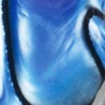"""""""nacre"""" blue-black"""