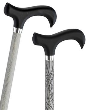 Reflective light metal walking sticks - 100 kg