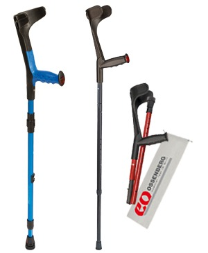 Foldable travel crutches