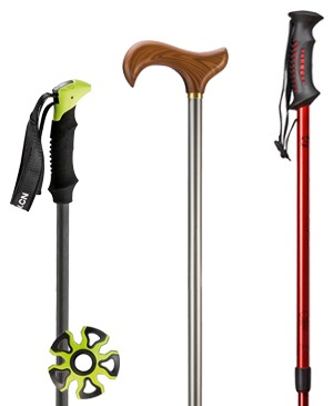 Hiking and telescopic sticks